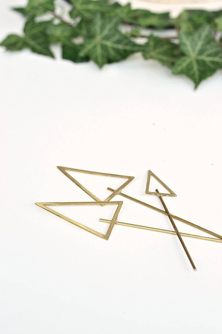 DIY brass cake toppers