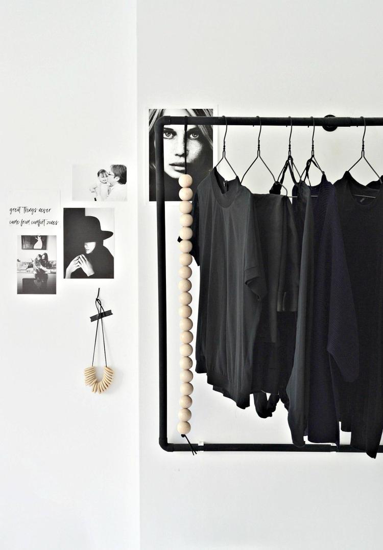 Scandinavian style open wardrobe DIY