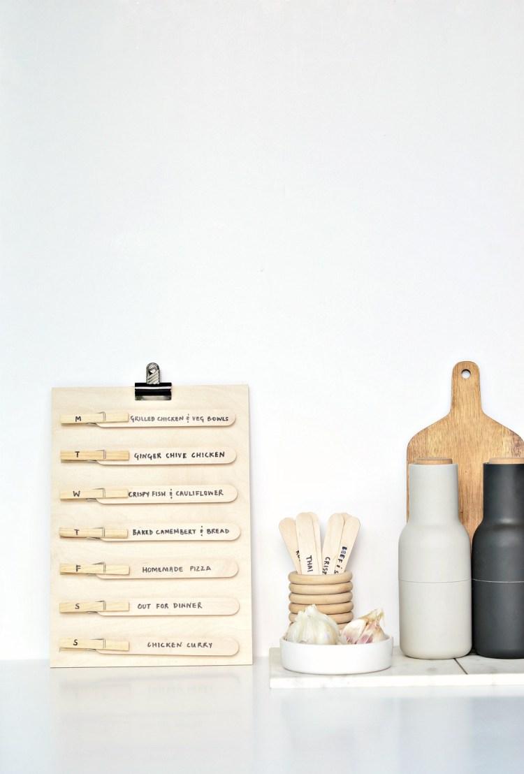 weekly meal planner diy