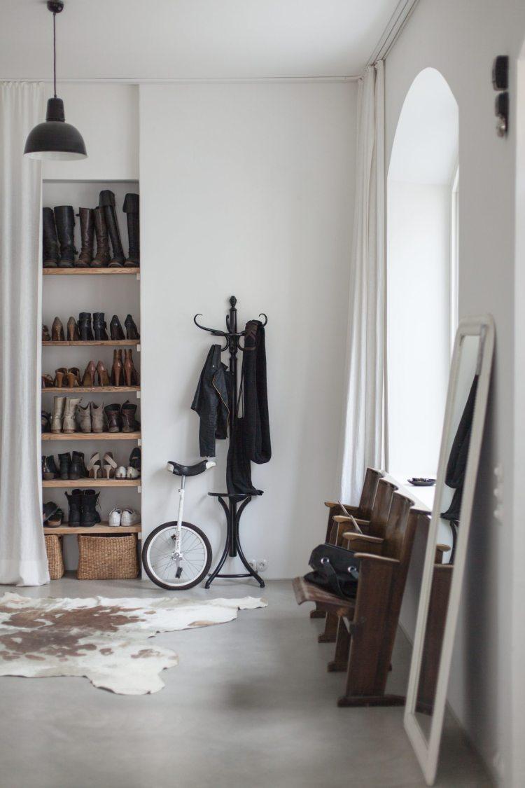 entrance hall shoe storage