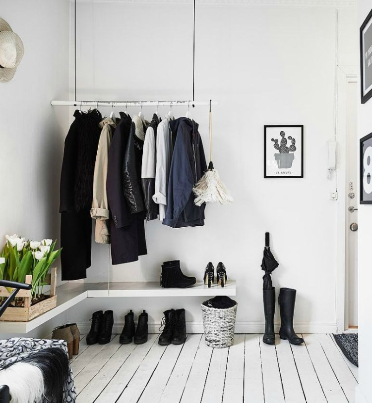 entry hall shoe storage idea