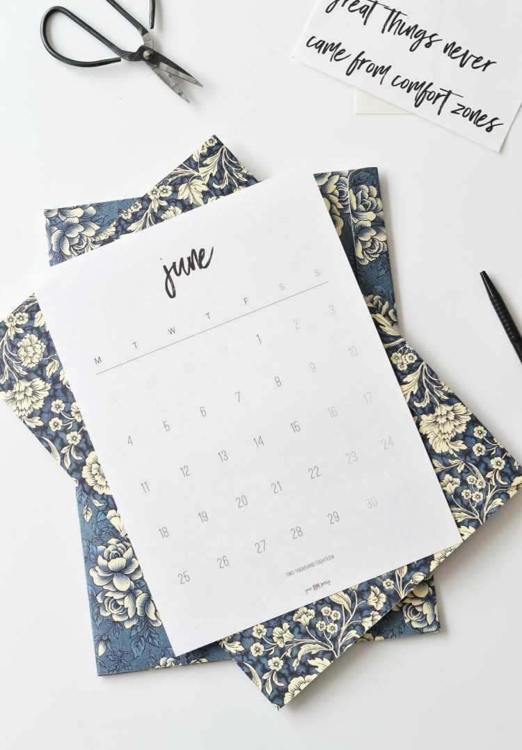 free printable calendar 2018