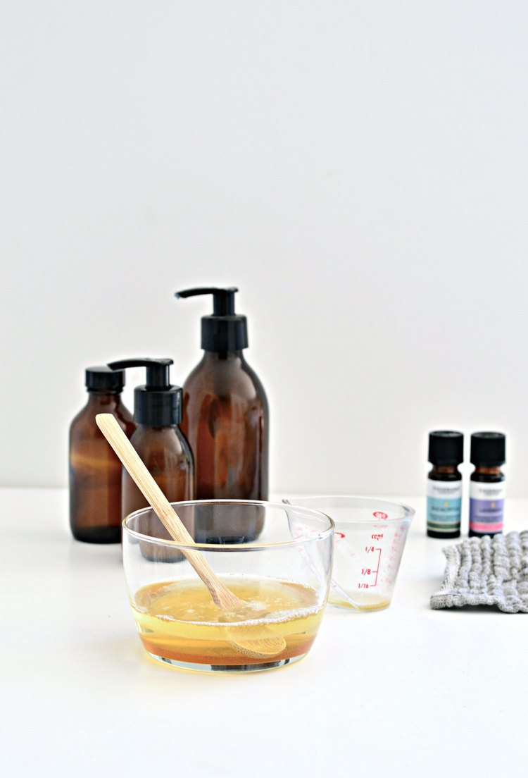 homemade body wash with castile soap