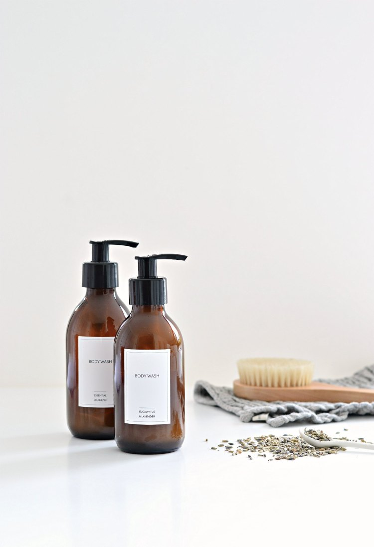 homemade body wash with essential oils
