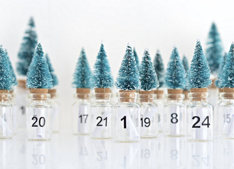 mini Christmas tree diy advent calendar