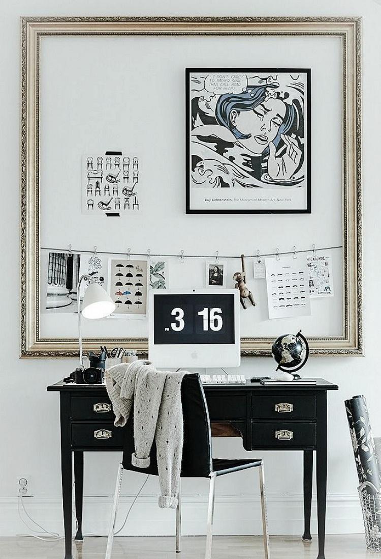 unusual ways to display art in home