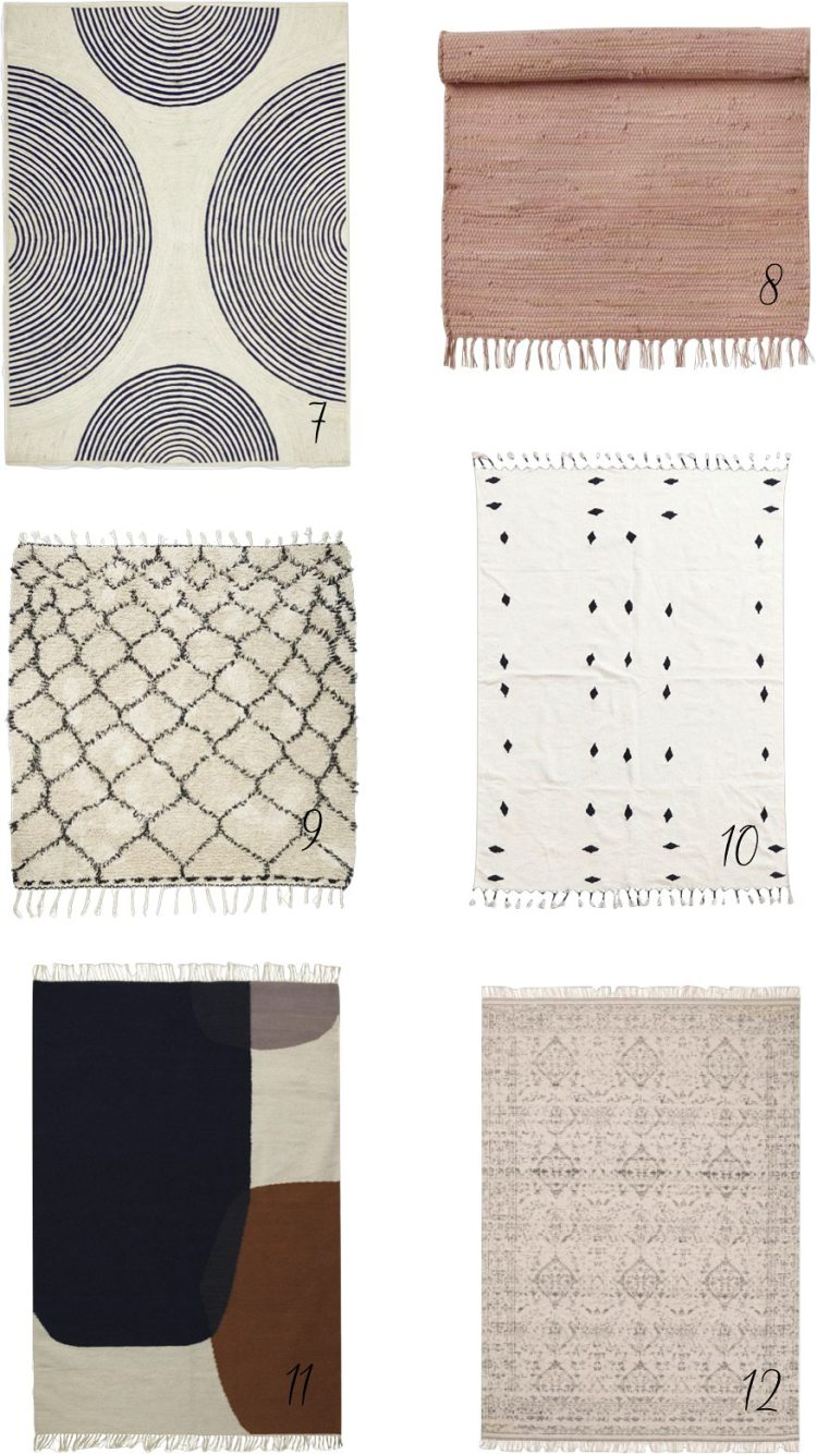 affordable rugs with minimal neutral style