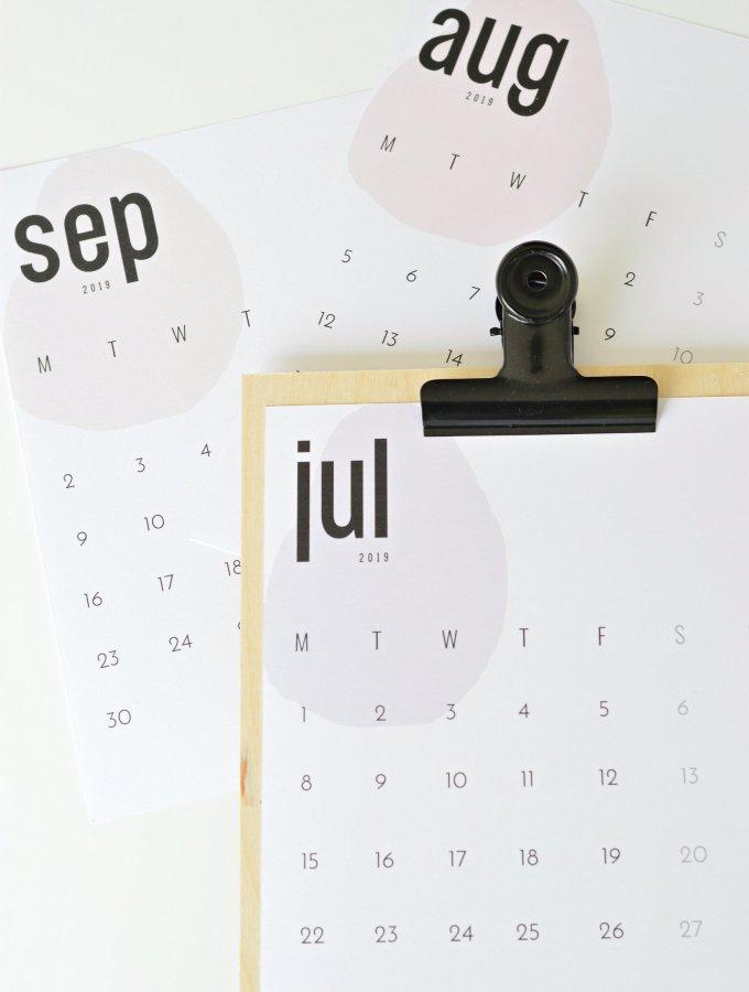 The coolest free 2019 calendar (July, August & September)