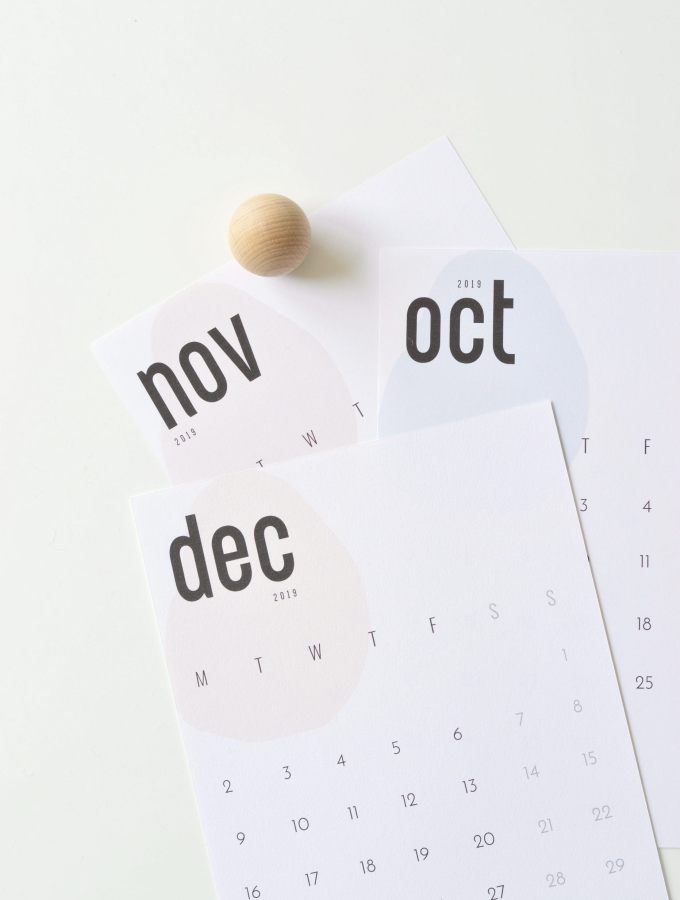 The coolest free 2019 calendar (October, November & December)