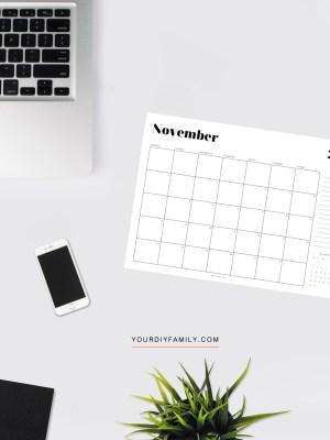 monthly printable calendar