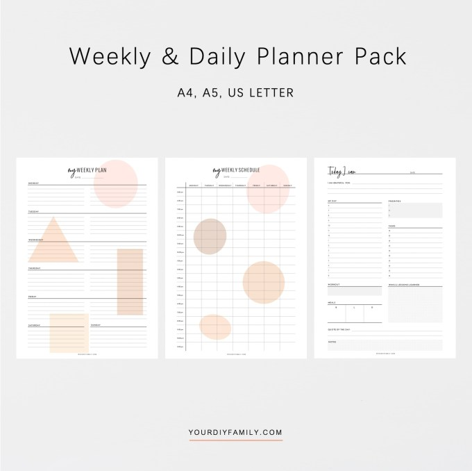 weekly and daily planner printable