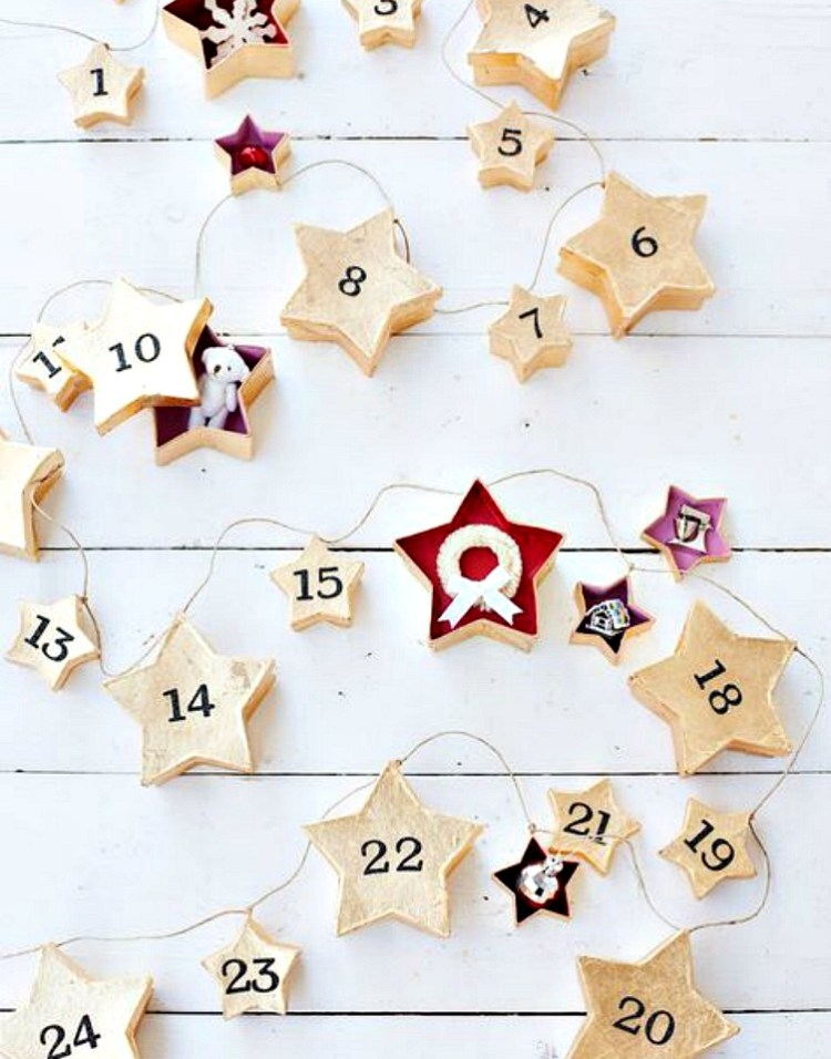 diy stars advent calendar