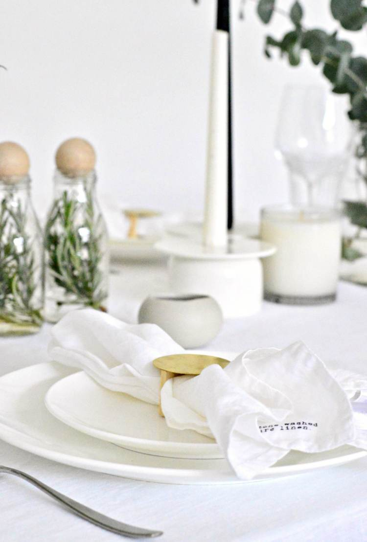 white table setting ideas party
