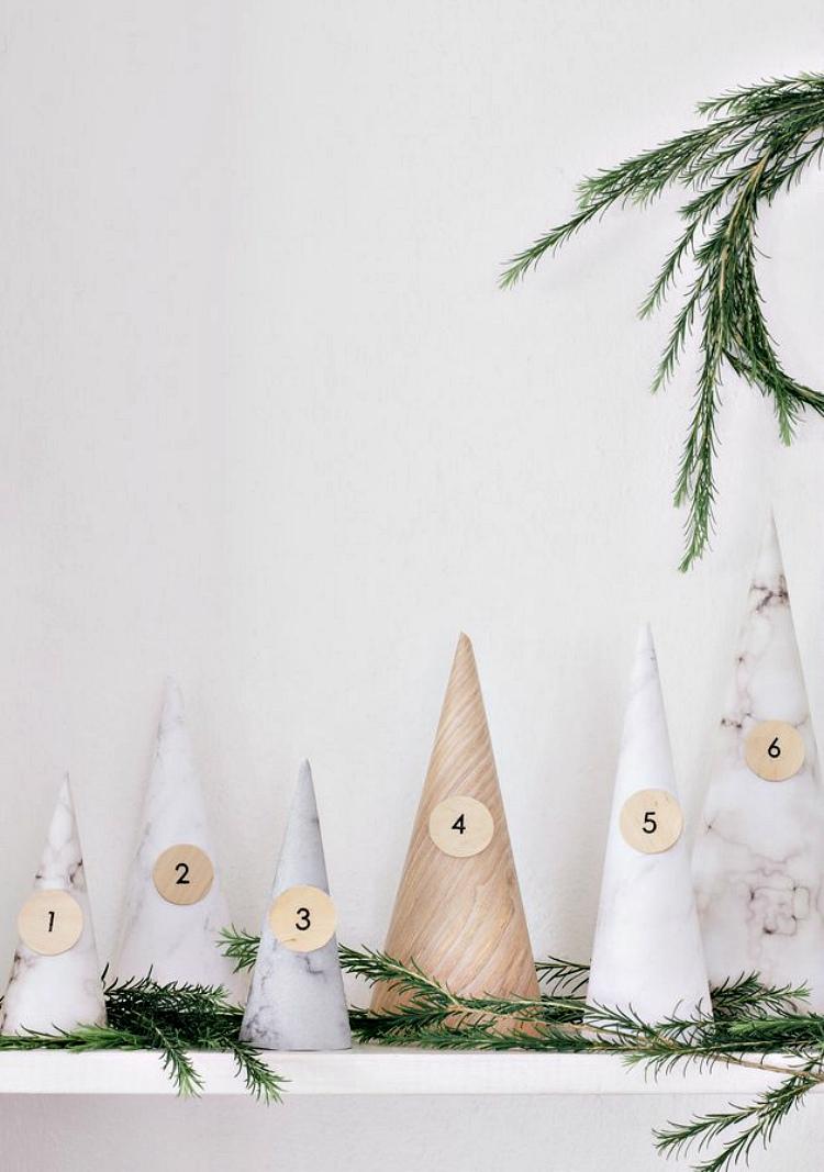 wooden diy advent calendar