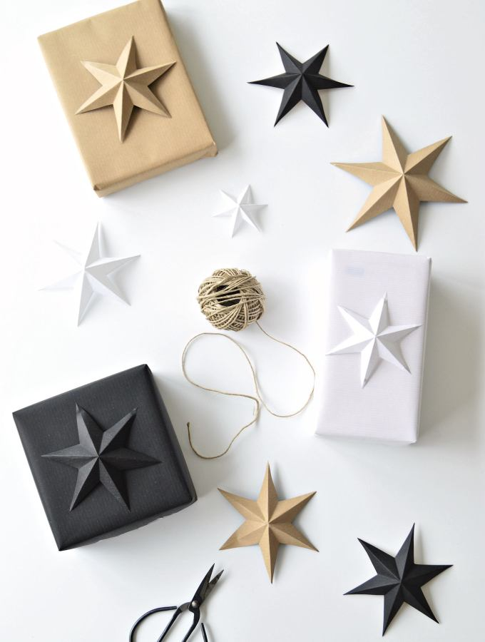 minimalist gift wrapping for Christmas