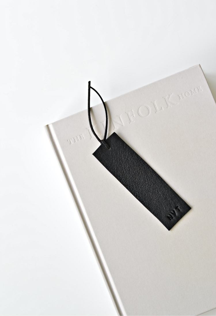 DIY personalized bookmarks fake leather