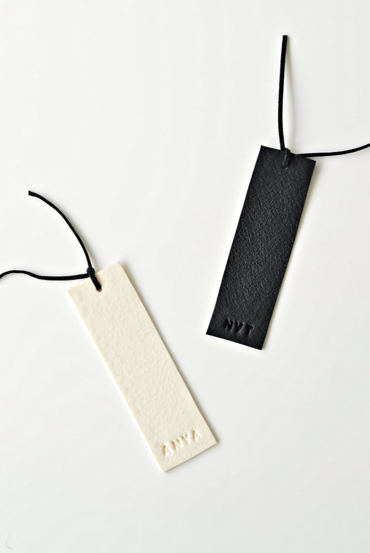 handmade bookmark fake leather