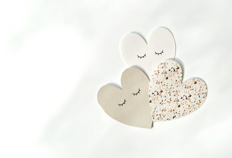 heart shaped cards printables