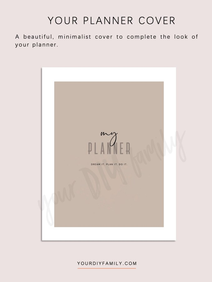 minimalist printable planner pages