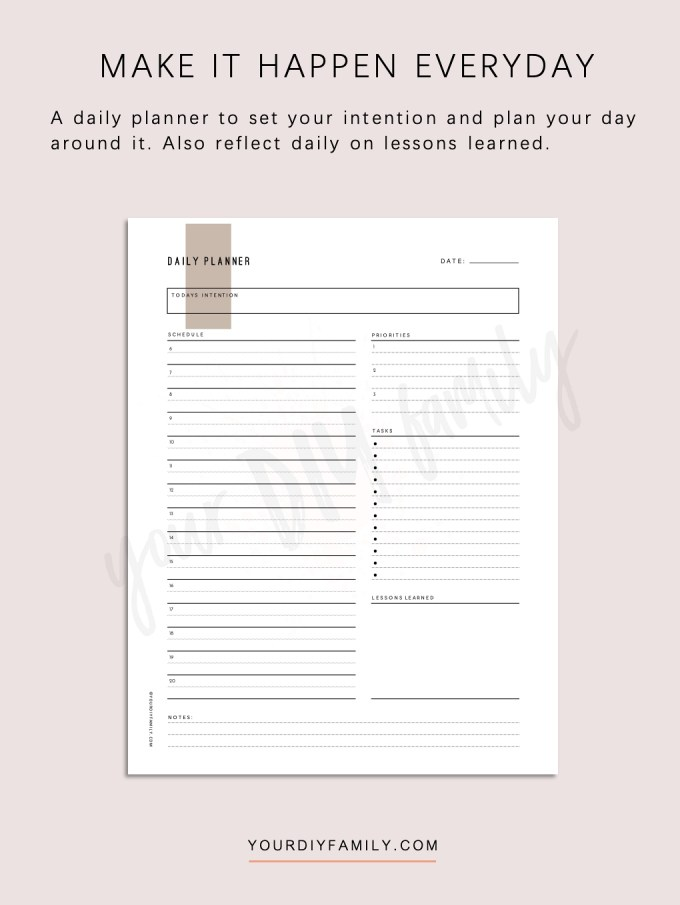 printable daily planner PDF
