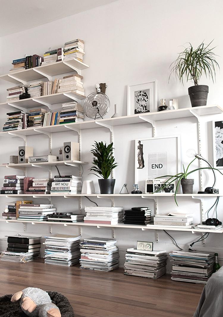 tips for organising open shelves