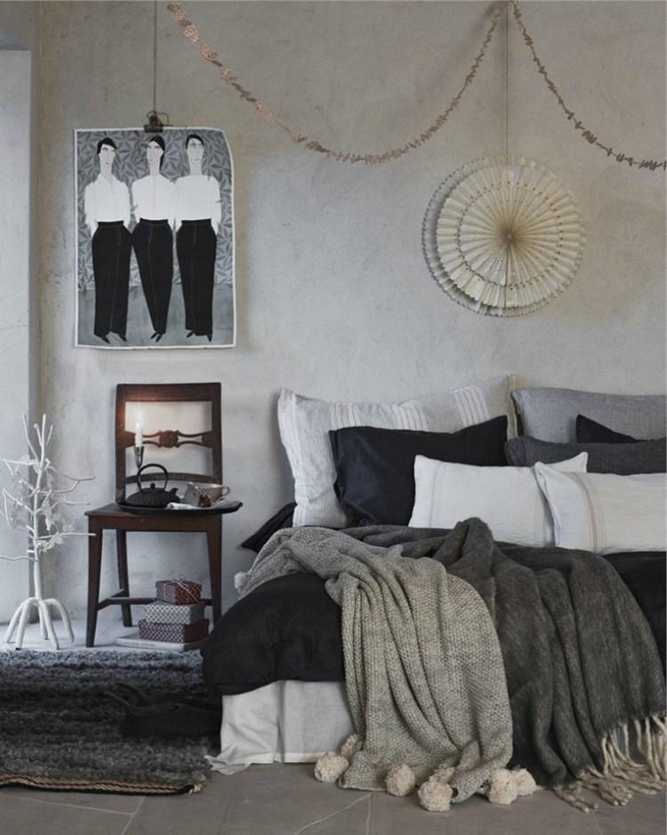 Christmas decor into the bedroom