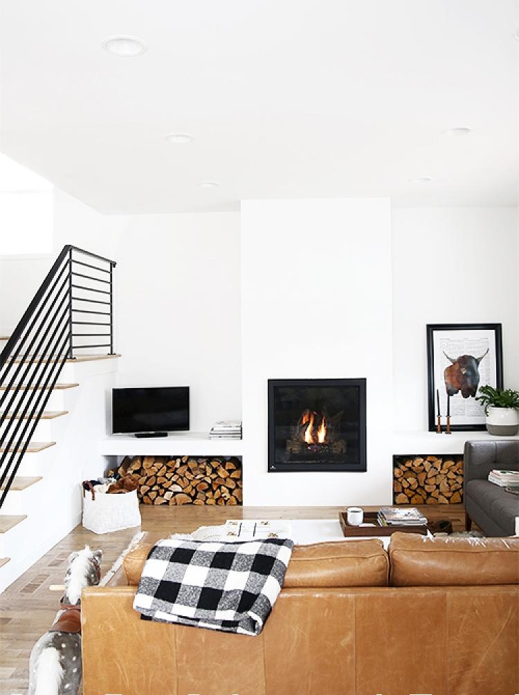 modern scandinavian fireplace