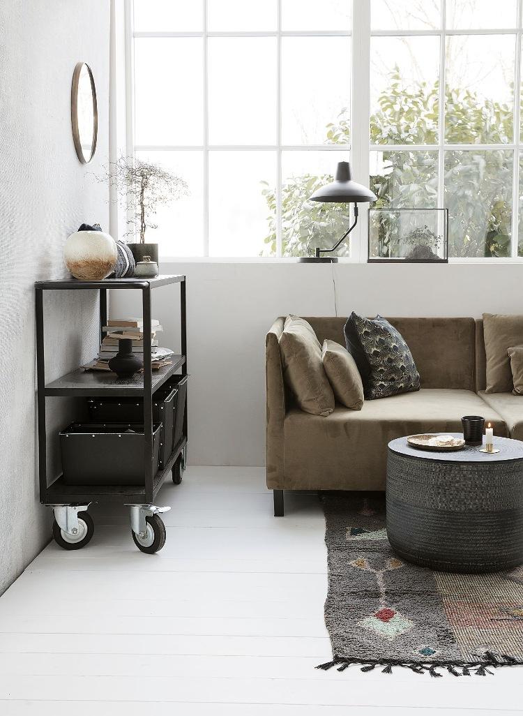 storage trolley cart living room