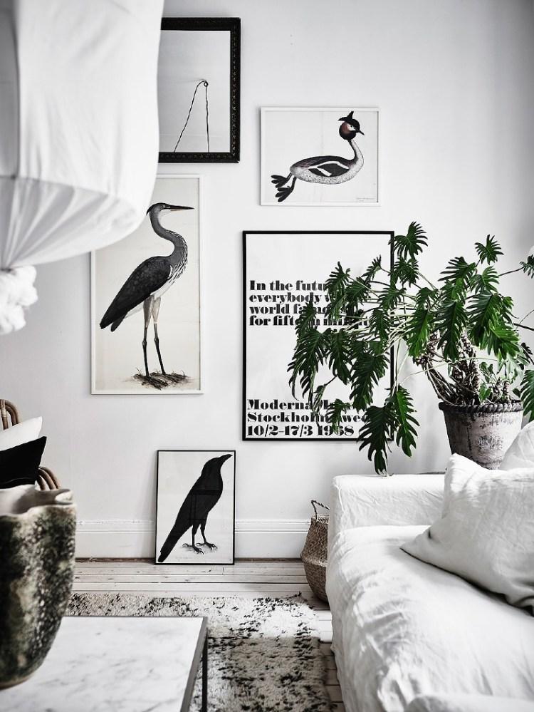 white scandinavian living room