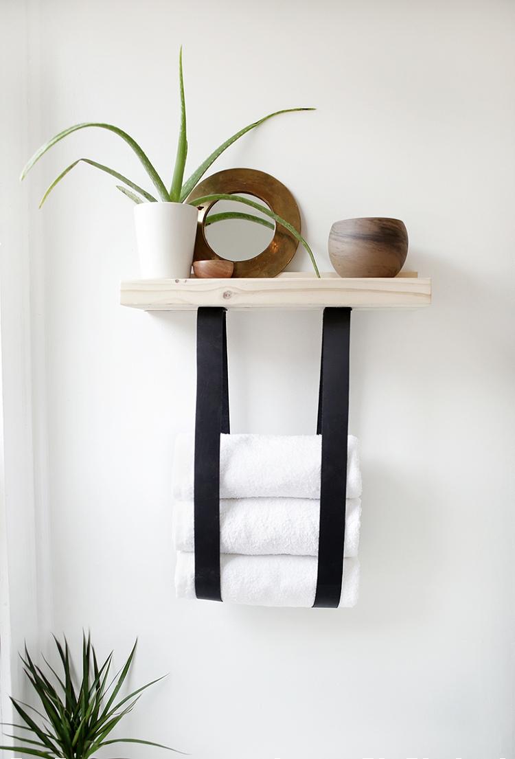 diy floating wood shelf