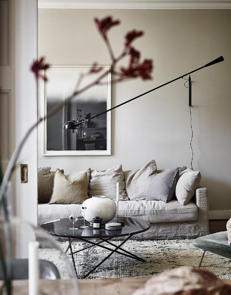 Scandinavian living room lighting ideas