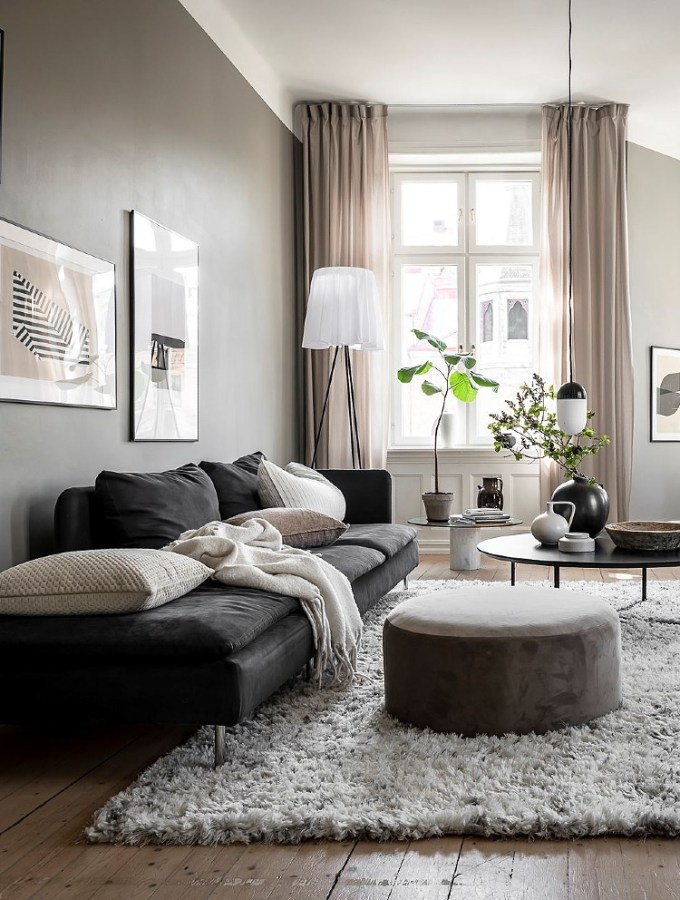 Home tour | cool grey home with warm beige accents