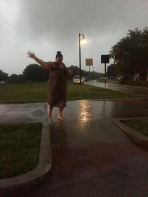 Walking Barefoot in Rain