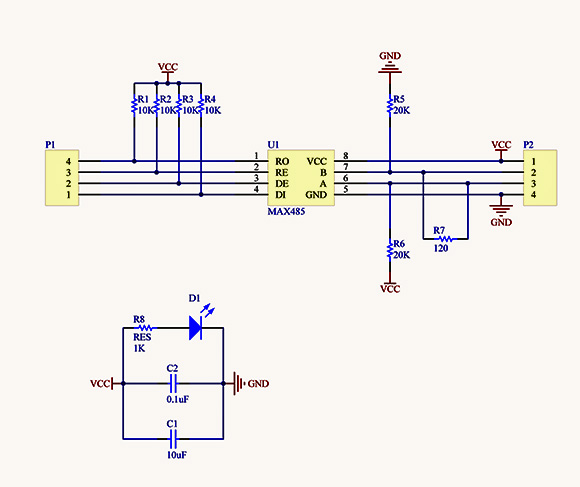rs232 to rs485 converter circuit diagram zinc element rs-485 module for arduino (max485 )