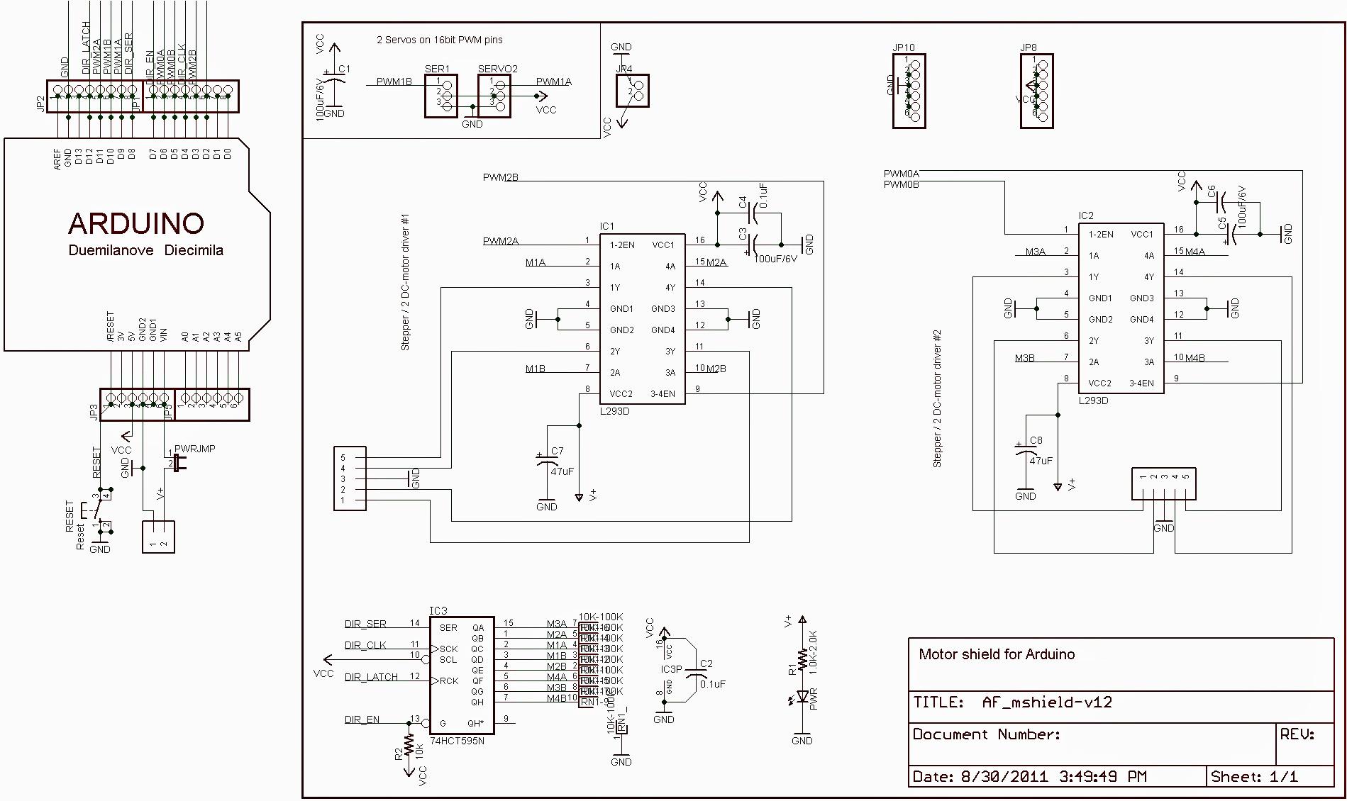 l293d motor driver circuit diagram loncin 110 wiring shield