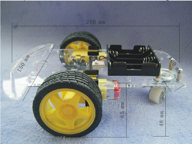 2 Wheel Drive Robot Chassis 1 Deck