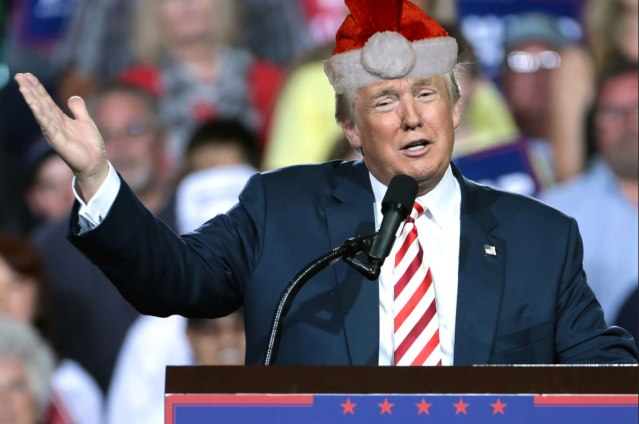 Trump Threatens Santa after 16 Years Without a Present
