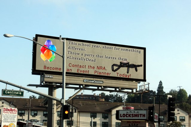 NRA Billboards Encourage Mass Shooters to Become Event Planners Instead
