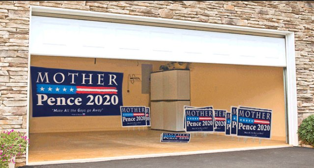 Breaking: 'Mother-Pence 2020' Campaign Signs Spotted in Pence Family Home Garage