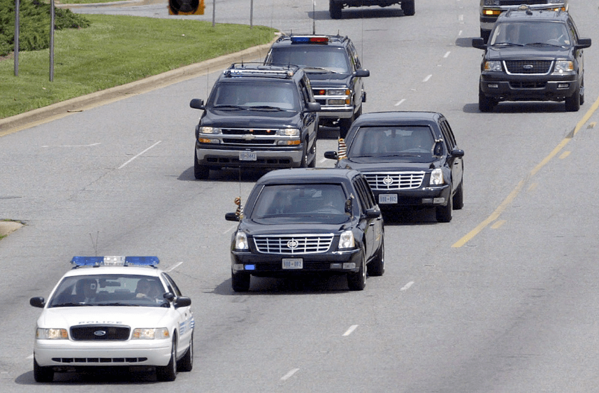 27 cars nearly crash into president trump motorcade alabama today