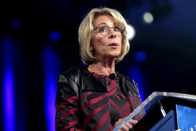 Special Olympics Revokes Betsy DeVos' Participation Trophies
