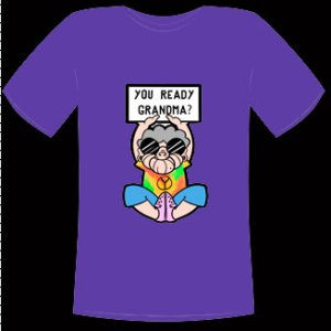 You Ready Grandma Hippie Shirt Purple