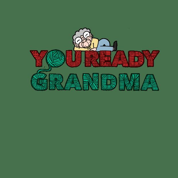 You Ready Grandma Yarn Laptop Sticker ball of yarn