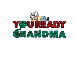 You Ready Grandma Yarn Laptop Sticker ball of yarn