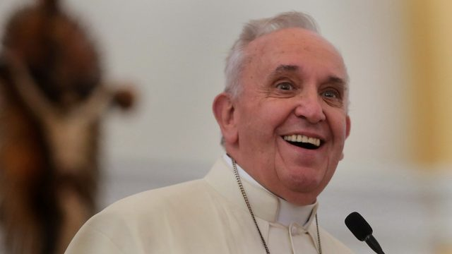 Pope Francis pooped in an elevator today after being stuck in it for just 25 minutes