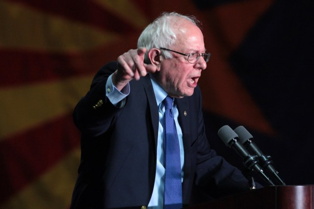 Fired-up Bernie Sanders shouts blockage out of his own arteries