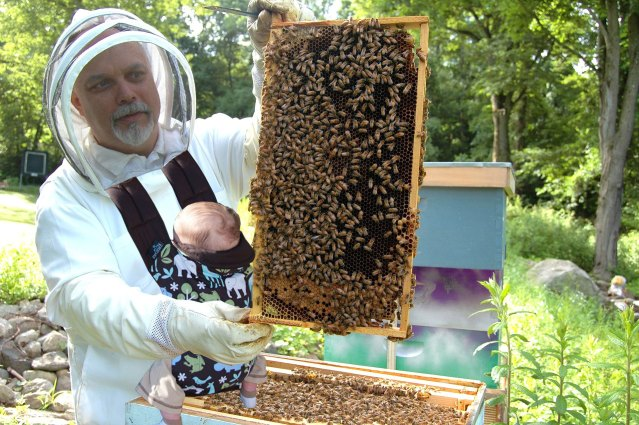 Snapshot: Newborns learn about beekeeping in Asheville, NC