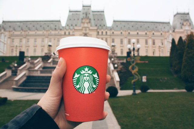 Starbucks' red cups come with a secret message printed on the bottom