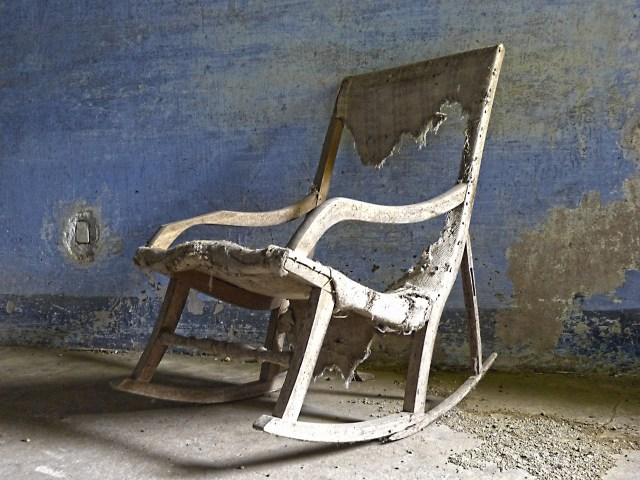 Old, wooden rocking chair is haunted by a really boring ghost