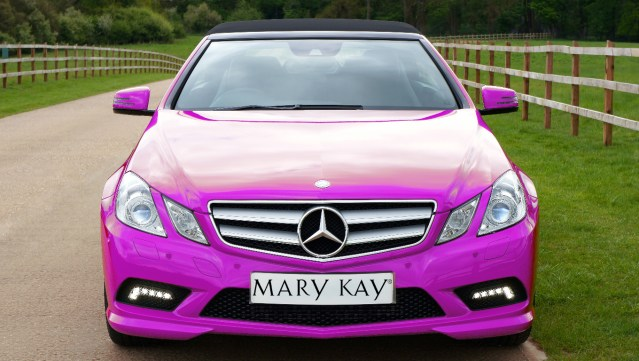 Woman in Pink Mary Kay Mercedes Just Realized She's Part of a Pyramid Scheme